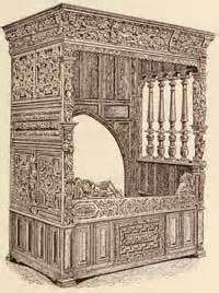 Ornate Bookcase Renaissance Furniture