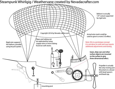 free patterns and ideas steunk whirligig weathervane
