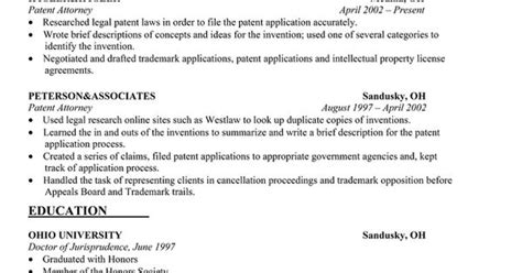 Biotech Patent Attorney Cover Letter by Sle Cover Letter For Patent Attorney