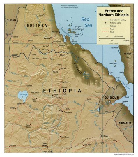 eritrea map geography of eritrea