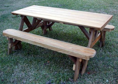 picnic table plans with separate benches plans for picnic tables with separate benches image mag