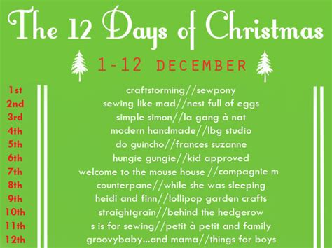 12 Days Of Calendar Introducing The 12 Days Of S Is For Sewing