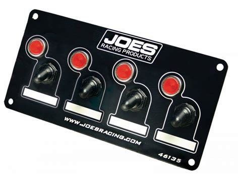 4 panel light switch switch panel 4 accessory with lights joes racing products
