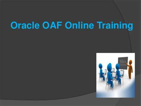 online tutorial for c oracle oaf online training online oracle oaf training in