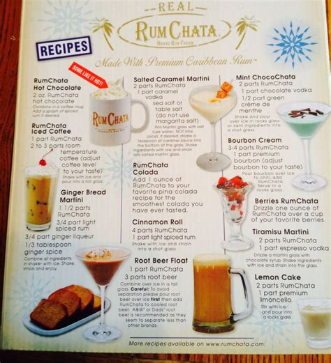 rumchata drink recipes drinks pinterest