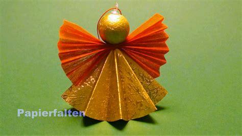 Engel Origami - weihnachtsengel basteln ein engel aus papier falten