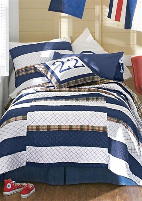 plaid boys bedding academy quilt boy s bedding reverses to plaid boys