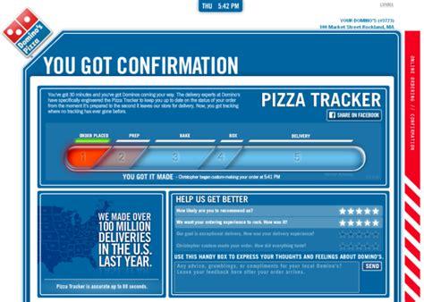 domino pizza tracker domino s pizza supply chain where s my pizza