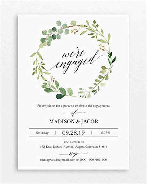 20 Engagement Party Invitations Martha Stewart Weddings Engagement Invitation Templates Free