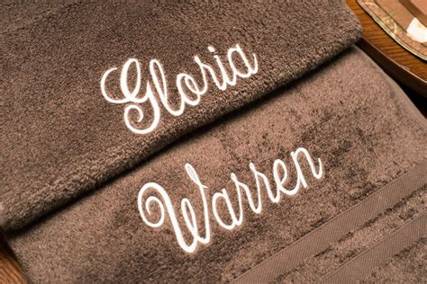 large towel with embroidered name longhurst custom