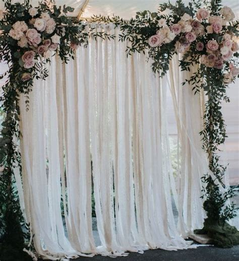 Wedding Backdrop Linen 25 best ideas about curtain backdrop wedding on
