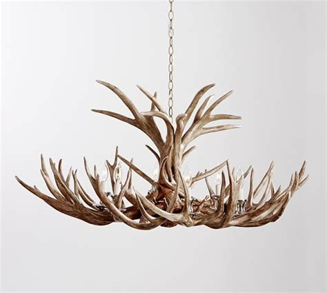 faux antler chandelier faux antler chandelier pottery barn