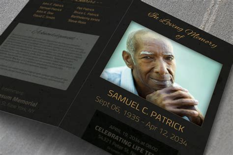 Free Obituary Template For Photoshop 187 Designtube Creative Design Content Free Obituary Template Photoshop