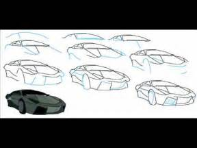 Steps To Draw A Lamborghini How To Draw A Lamborghini Reventon Car Easy Simple Step By