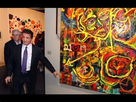 paintings by sylvester stallone go on display youtube