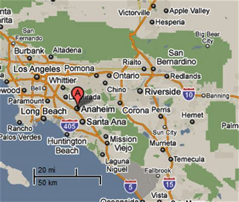 anaheim california map sighting reports 2010