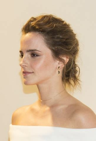 hairstyles: emma watson – textured updo | sophisticated