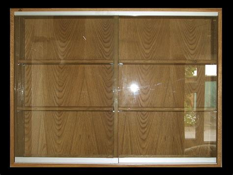 wall mounted oak display cabinet 2