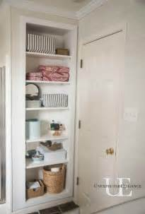 Bathroom Built In Storage Ideas by Diy Built In Shelving For My Bathroom Unexpected Elegance