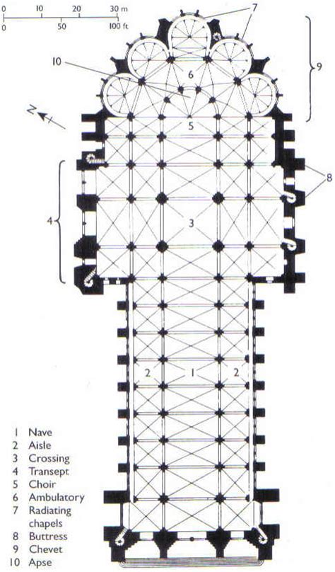 gothic architecture floor plan reims 20fp jpg