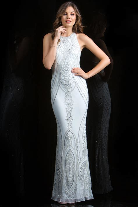 scala beaded gown scala 48793 high neck beaded gown novelty