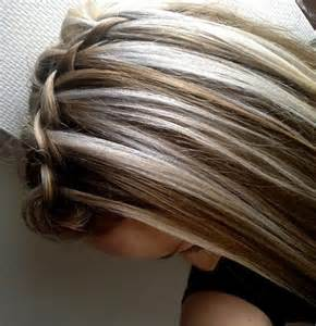 Top braided with brown and blonde highlights