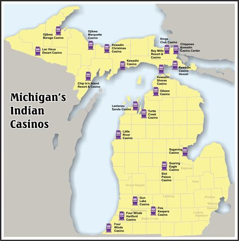 Michigan Sweepstakes Law - mgcb map of native american casino locations