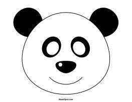 printable panda mask template panda mask templates including a coloring page version of