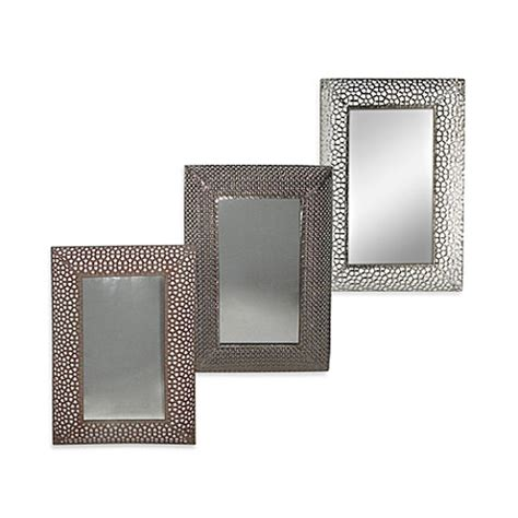 bed bath and beyond mirrors buy honeycomb metal 16 inch x 24 inch wall mirror in