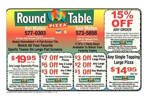 round table pizza coupons rohnert park
