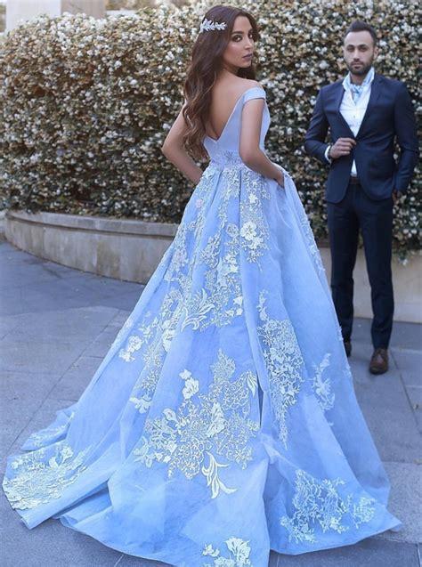 Blue Sky Quinze Dress outlet floor length prom evening dress light blue