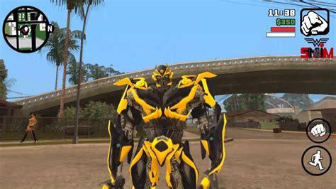 mod gta 5 transformers transformers skin mod gta sa android youtube