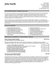construction superintendent resume   Writing Resume Sample