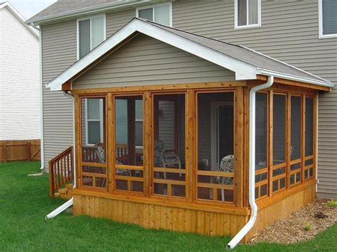 Screened In Deck Screen Porch Designs For Houses As One Of The Ideas With