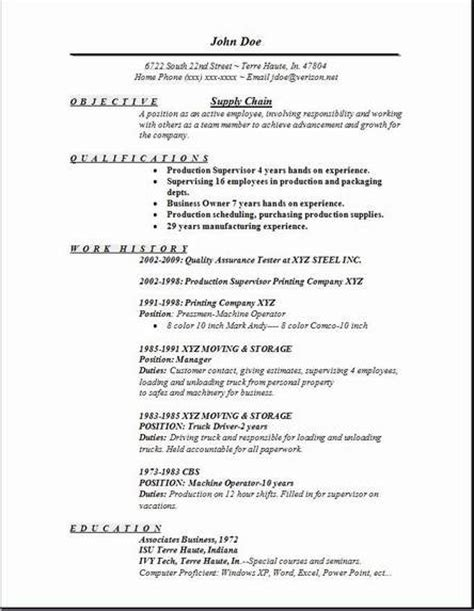 Supply Chain Resume by Supply Chain Resume Occupational Exles Sles Free