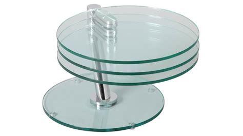 Table Basse Ronde Articul 233 E 3 Plateaux Verre Table Basse