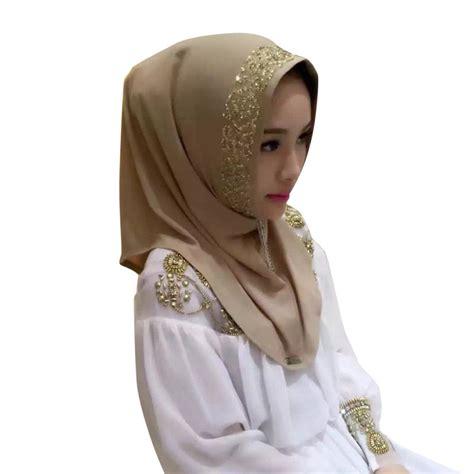 Pearl Scarf shine printed cosy muslim pearl scarf islamic shawl headscarf ebay