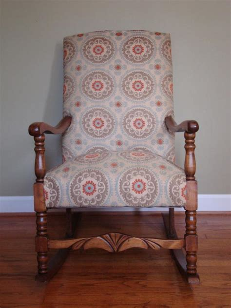 suzani fabric chair upholstered rocking chair in suzani fabric