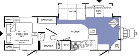komfort travel trailer floor plans 2005 komfort komfort tt travel trailer rvweb com