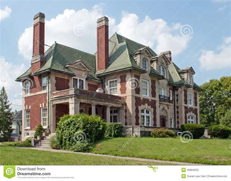 chateauesque house plans leo flesh mansion stock photo image 46964025