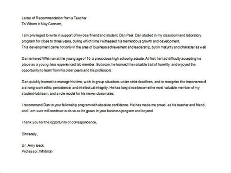 Reference Letter For From Parent Sle Letter Of Recommendation For From Parent