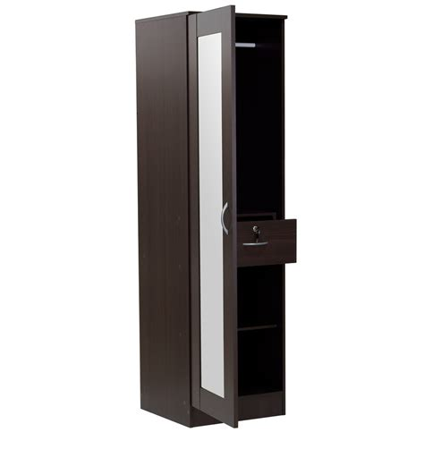 Single Mirror Closet Door by Buy Namito One Door Wardrobe With Mirror In Chocolate