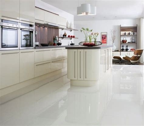 White Kitchen Floor Ideas Polished White Floor Tile 163 24 92 M Or Idea Kitchen And Food White