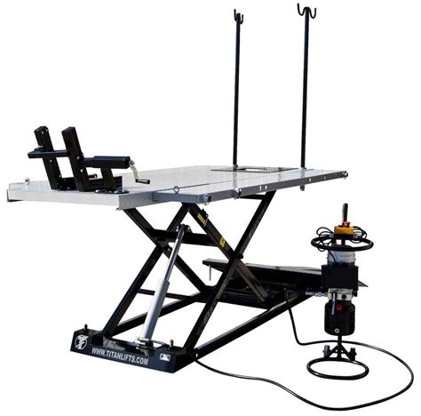 titan electric 1500 lb motorcycle atv lift table free