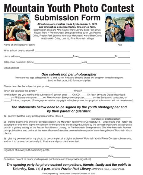 Submit Giveaway - submitformmtnyouthphoto7 the mountain enterprise
