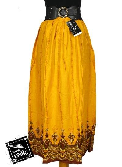Gamis Batik Mahkota rok batik panjang shanthung motif gantung tumpal mahkota