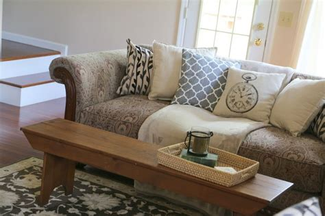 floor cushions instead of couch updating a dated sofa home staging trick from the