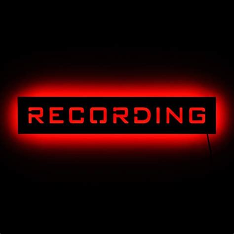 recording studio warning light sound studio signs and studios on
