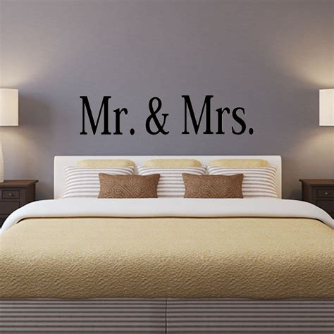 Mr And Mrs Wall Decor by Mr And Mrs 1 Vinyl Wall Decal