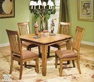 yale solid oak mission style dinette set dining room furniture sets